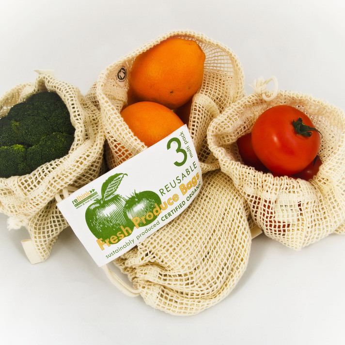 Winner: Rethink Reusable Fresh Produce Bags, for cotton reusable bags