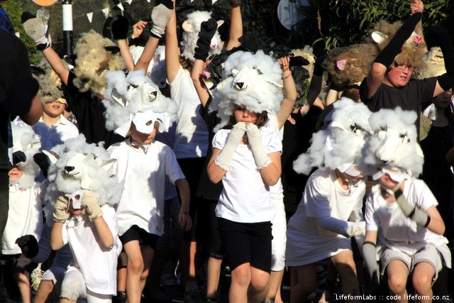 Upper Moutere School - Sheep - Nelson Masked Parade 2010