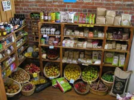 Organic Produce on the shelves at the Riverton Organic Food Co-op