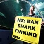 Matt Watson at Kelly Tarlton's with NZSA message