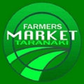 The Farmers' Market Taranaki logo - a pleasant green image with circles and words