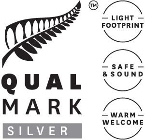 Qualmark Silver Sustainable Tourism Business Award logo