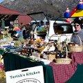 Stalls at the Remarkables Market