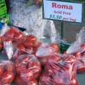 Bags of Roma acid free tomatoes