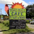 Road side sign, Toad Hall, Motueka